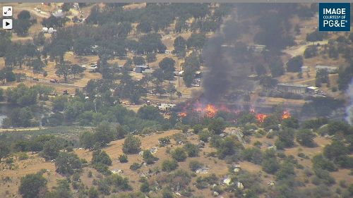 CalFire responding to fire in Auberry