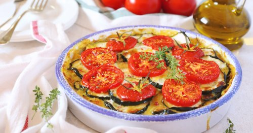 Rezept: Leichtes Zucchini-Tomaten-Gratin | freundin.de