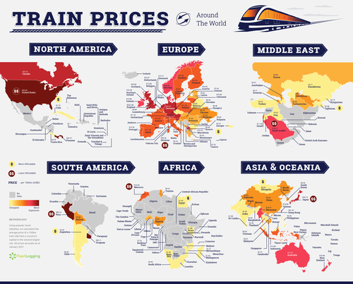 Here Are the Countries with the Least and Most Expensive Plane and Train Travel | Frommer's