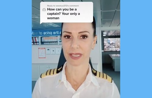 WATCH: Cruise Ship Captain Kate McCue Schools a Rude Commenter | Frommer's