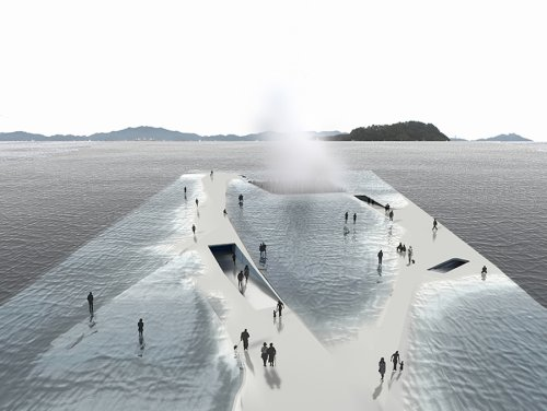 Ocean Platform Allowing you to Walk Towards the Water