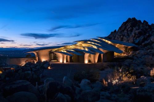 Unreal House in Desert