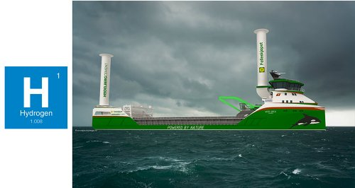 Norwegian Ship Design Chosen for the World's First Hydrogen Powered Cargo Ship