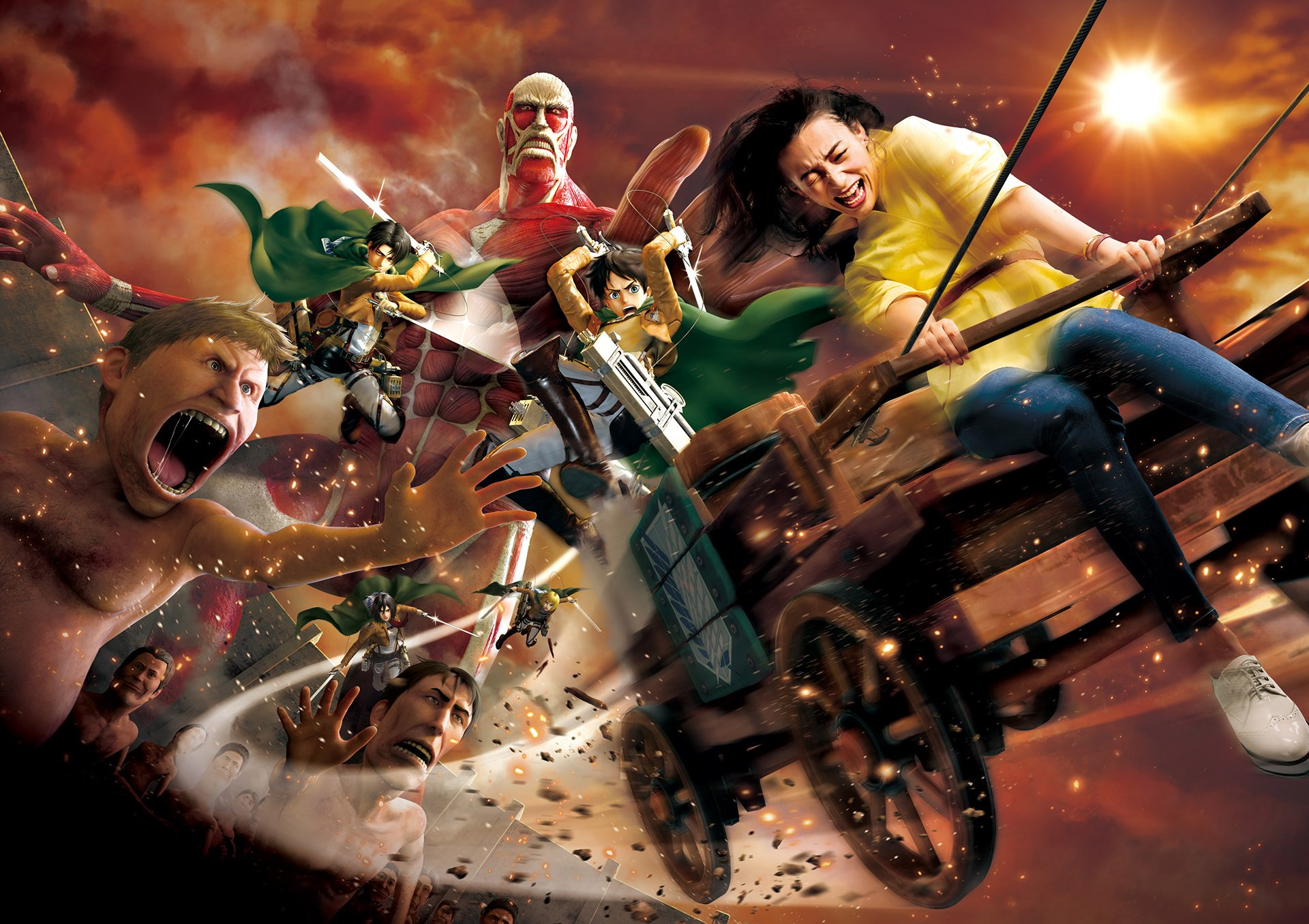 Attack on Titan Ride at Universal Studios Japan Detailed in New Promo
