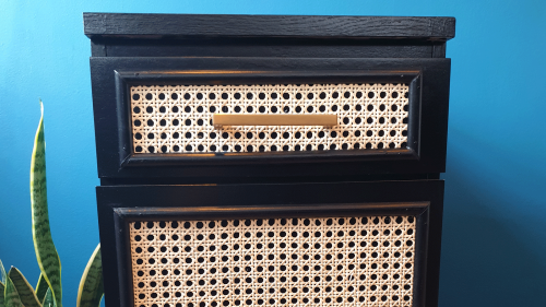 This clever rattan IKEA drawers hack is the perfect weekend DIY