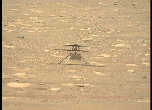 Watch NASA's Mars helicopter Ingenuity test its blades! (video)