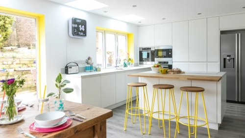 Take a look at this colourful open-plan kitchen transformation