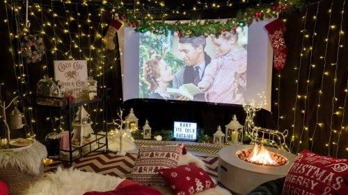 Here's how to make an outdoor movie theater for the ultimate viewing experience