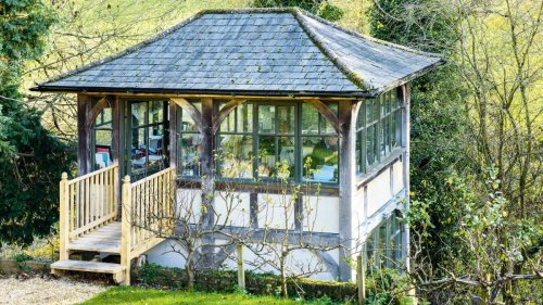 Add a garden building you love from the outside in
