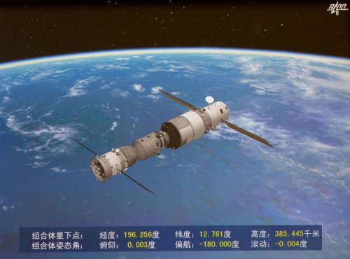 Chinese Space Station Tiangong-2 Destroyed in Fiery Re-Entry Over Pacific Ocean
