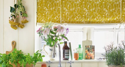 These are the perfect window dressings for rural rooms