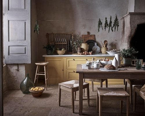 Take a rustic approach to fixtures and furnishings with these French country kitchen ideas
