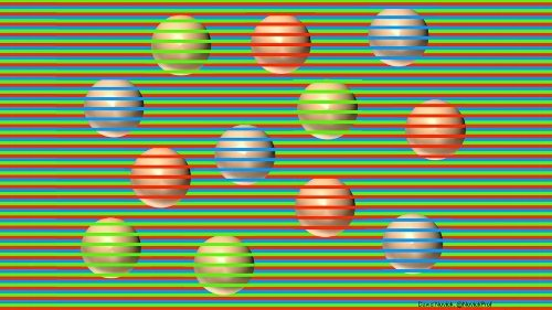 This optical illusion tricks you into seeing different colors. How does it work?