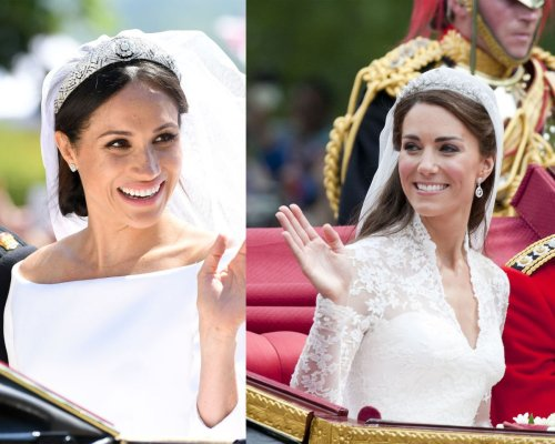 The secrets behind Duchess Meghan and Duchess Catherine's royal wedding looks