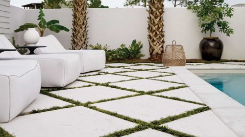 Large patio pavers are the hottest contemporary garden trend this spring