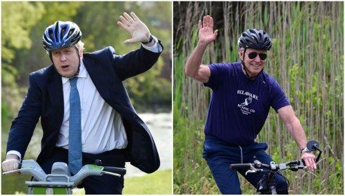 President Joe Biden gifts Boris Johnson US-built bike