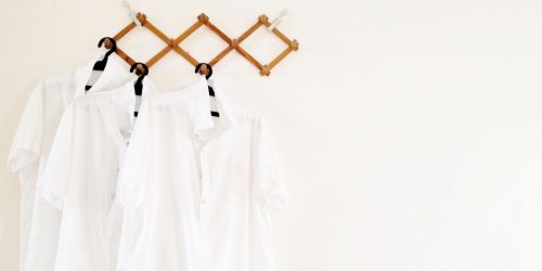 How to get a stain out of a white shirt