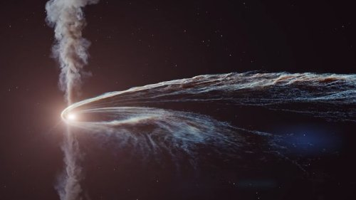 Watch a black hole tear a star to bits in epic new animation