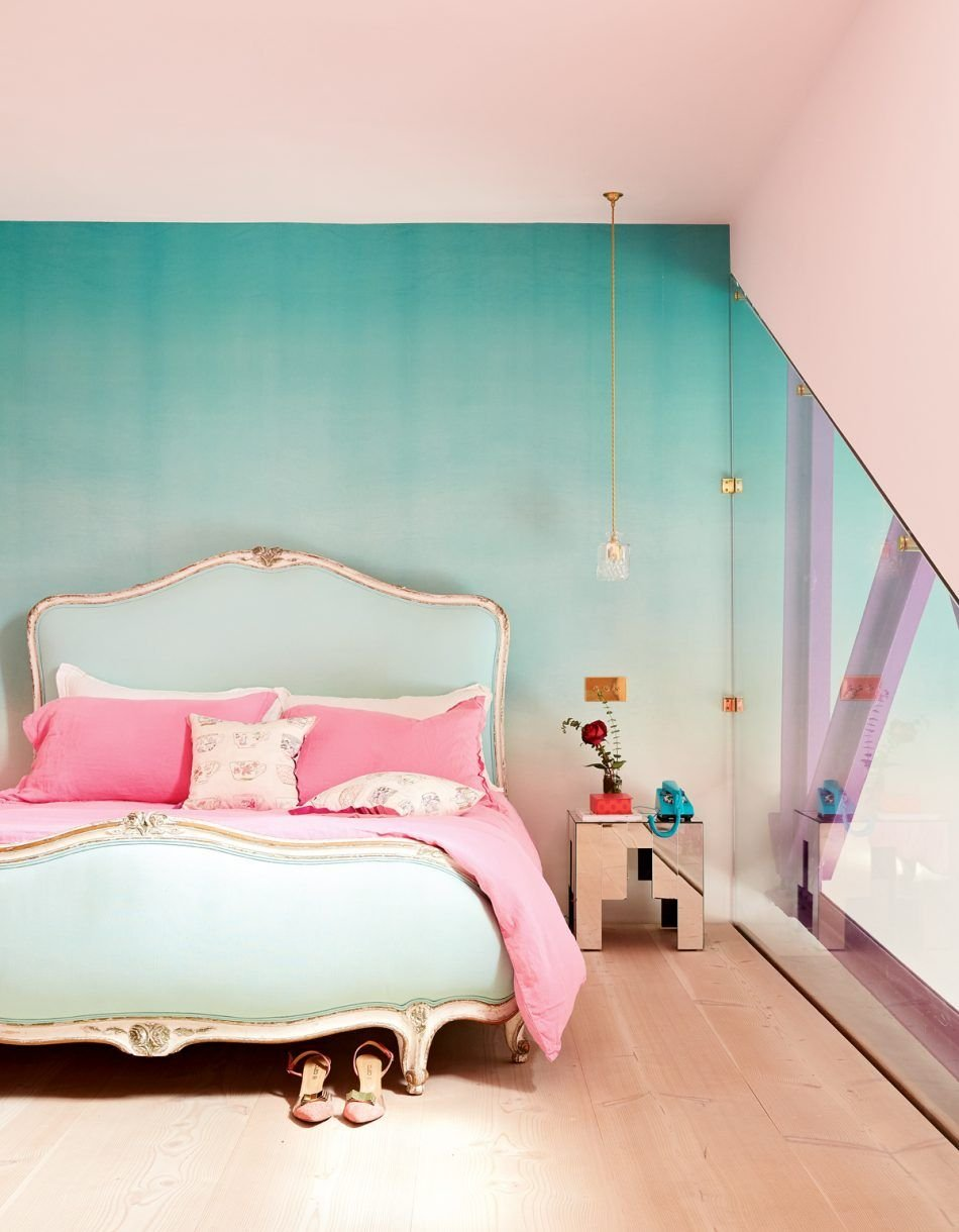 This warehouse conversion in west London is pastel perfection