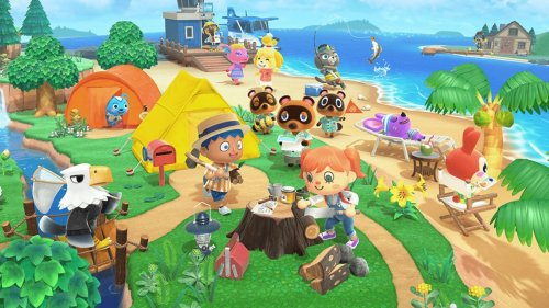 Animal Crossing: New Horizons player notices the game's main theme is drawn up on the chalkboards