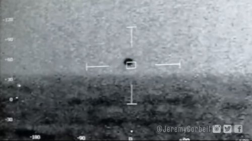 Spherical UFO plunges into the ocean in US Navy footage