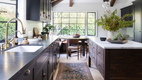 Introduce modern rustic elements for a laid-back look in your kitchen
