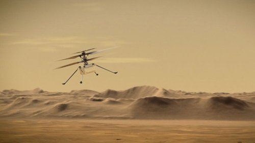 Delayed: Martian drone takes 'one giant leap' millions of miles away