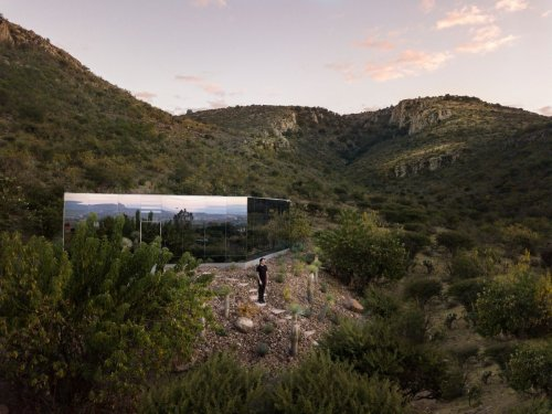 Inside a mirrored home on an extinct volcano in Mexico