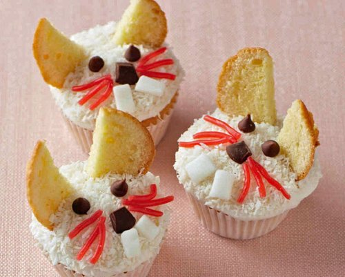 These Easter Bunny cup cakes are adorable