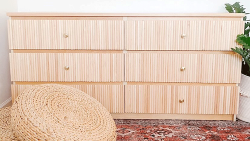 Get the on-trend fluted look for cheap with this genius IKEA dresser hack