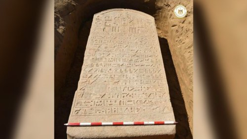 Farmer discovers 2,600-year-old stone slab from Egyptian pharaoh