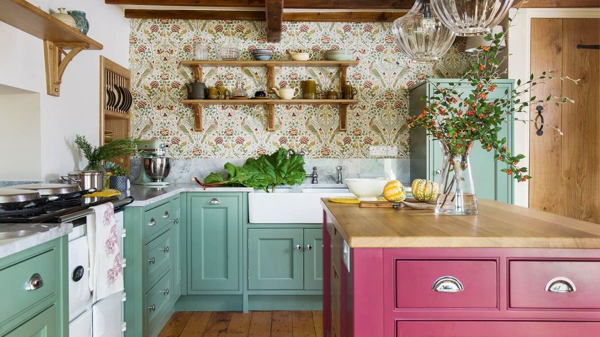 Explore this Yorkshire Dales village home filled with William Morris wallpapers