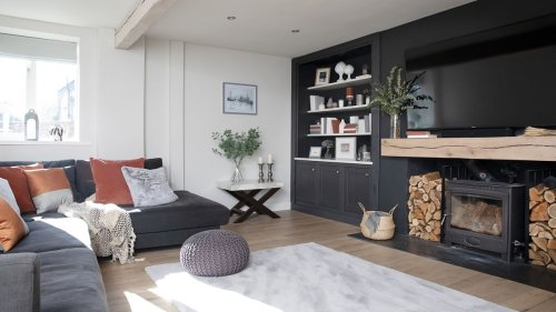 This couple embraced the dark side (of interiors!) when they took on their barn conversion