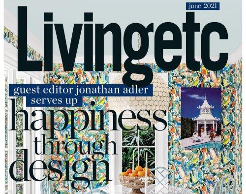 Jonathan Adler guest edits Livingetc's June issue