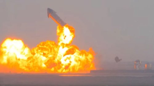 SpaceX's SN10 Starship prototype lands after epic test launch — but then explodes