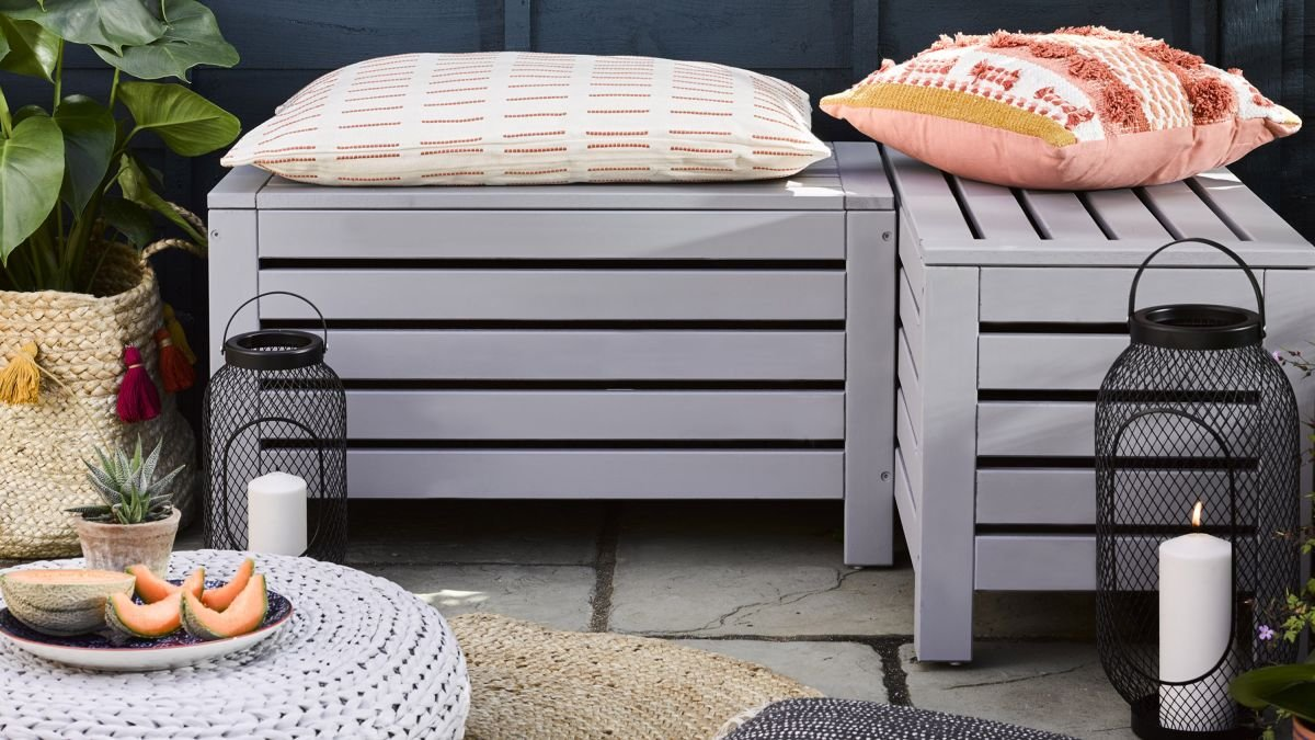 Upcycle tired garden furniture in just four easy steps