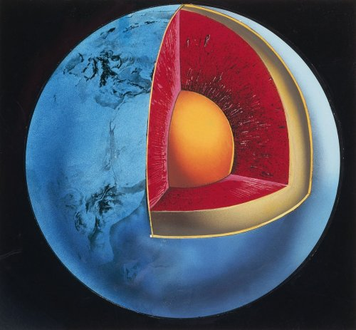 Hunks of oceanic crust are wedged inside Earth's mantle