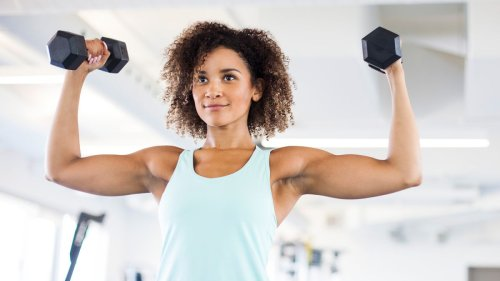Tone your arms in 30 days with this easy dumbbell arms workout routine