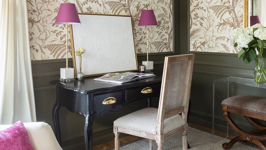 Before and after: A stunning home office makeover filled with secondhand finds