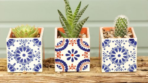 How to make a tile plant pot in five easy steps: follow our quick guide