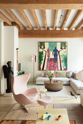 Step inside an eclectic New York apartment that was once a 19th century warehouse