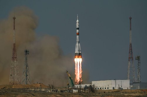 Soyuz MS-18 crew launches to space station 60 years after first human spaceflight