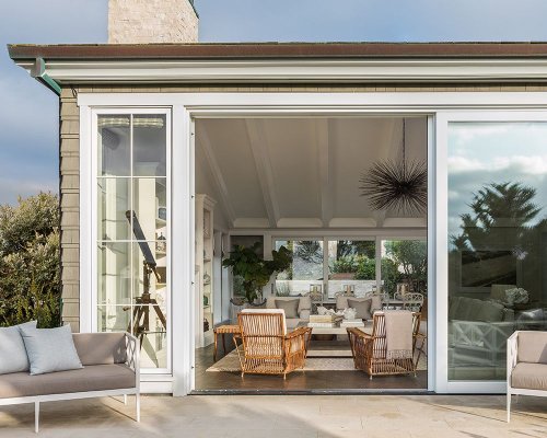 Step inside this luxury, seaside home in California, designed by Kelie Grosso of Maison Luxe