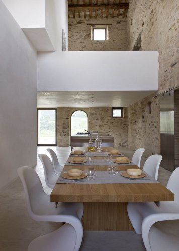 See a rustic holiday villa with a strikingly contemporary interior