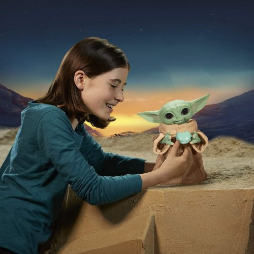 Hasbro's new animatronic Baby Yoda eats snacks, uses the Force and coos