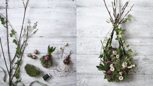 How to make a living spring wreath in four easy steps