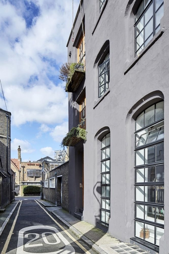 This converted perfume factory is now a cool warehouse-style live/work space