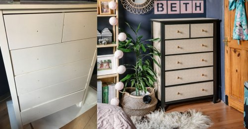 This simple Ikea hack can upcycle old furniture using just wallpaper