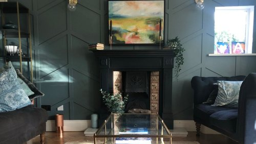 This DIY living room panelling is sophisticated and stylish