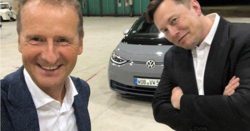 Elon Musk wollte den VW-Chef als Tesla-Chef anstellen